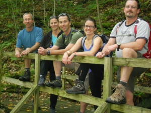 Lowa Boots on a hike with the CC Outdoor Staff